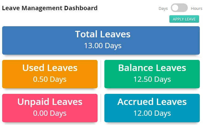 Leave Management Dashboard